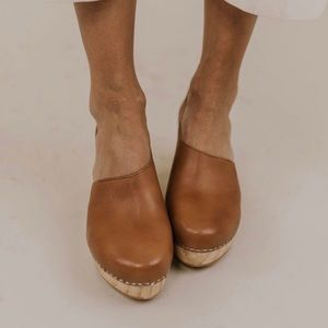 FREE PEOPLE MULE CLOGS Brown Leather Sherpa 7 / 37
